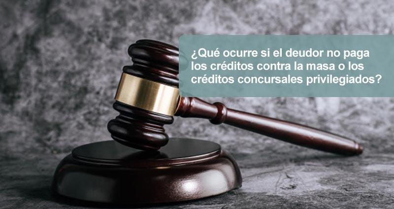 el deudor no paga